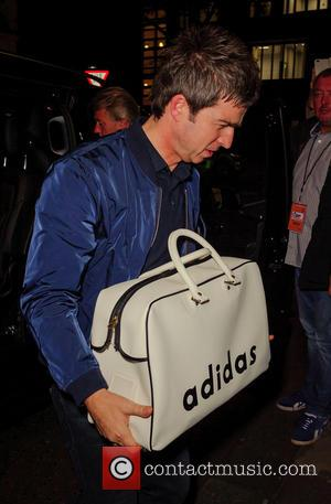 Noel Gallagher seen entering the Channel 4 Stand Up To Cancer Gala Fundraiser held at the Westminster Methodist Central Hall,...