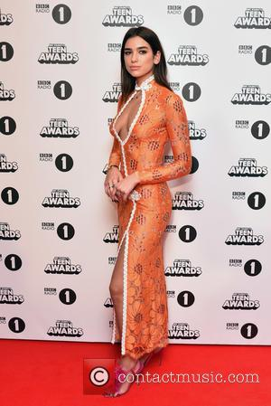 Dua Lipa seen at the BBC Radio 1 Teen Awards held at the Wembley Arena, London, United Kingdom - Sunday...