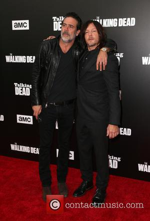 Jeffrey Dean Morgan seen at a 90-Minute Special Edition Of 'Talking Dead' as presented by AMC held at Hollywood Forever,...