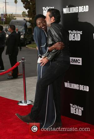 Danai Gurira and Jeffrey Dean Morgan seen at a 90-Minute Special Edition Of 'Talking Dead' as presented by AMC held...