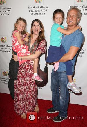 Patrick Fabian, Mandy Fabian, Abbey Ray Fabian and Delilah Grace Fabian at the Elizabeth Glaser Pediatric Aids Foundation 'A Time...