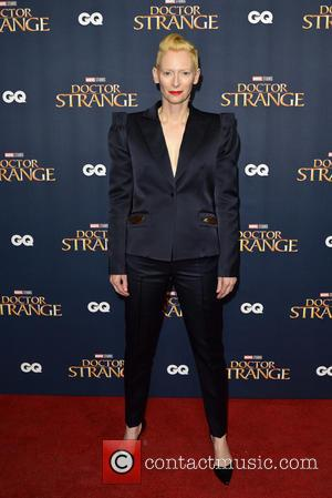 Tilda Swinton seen at the 'Doctor Strange' launch event. Tilda plays the role of The Ancient One in the film....
