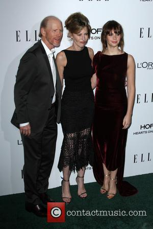 Ron Howard, Elle Editor-in-chief Robbie Myers and Felicity Jones