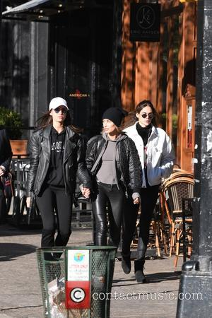 Hailey Baldwin seen out and about with some friends who went out for lunch in Manhattan, New York, United States...