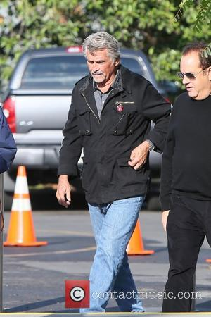 James Brolin seen at Universal studios where he was interviewed by Charissa Thompson for television show Extra. Los Angeles, California,...
