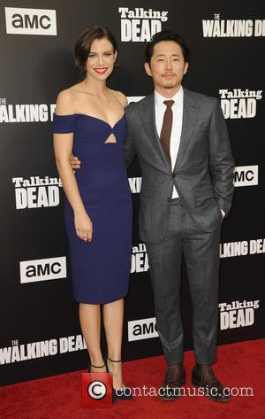 Steven Yeun seen at a special edition of 'The Walking Dead's Talking Dead' presented by AMC - Los Angeles, California,...