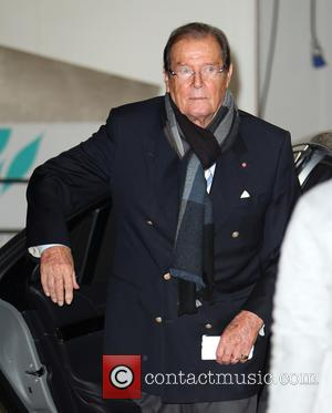 Roger Moore seen outside ITV Studios, London, United Kingdom - Tuesday 25th October 2016