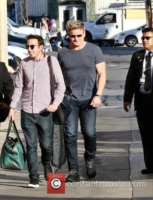 British Chef Gordon Ramsay seen outside the Jimmy Kimmel studios for an appearance on Jimmy Kimmel Live! Hollywood, California, United...