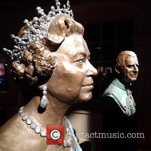 A sculpture of Prince Charles is one of the pieces at the Heads at the Tower A Retrospective exhibition by...