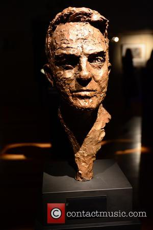 A sculpture of Bradley Walsh is one of the pieces at the Heads at the Tower A Retrospective exhibition by...