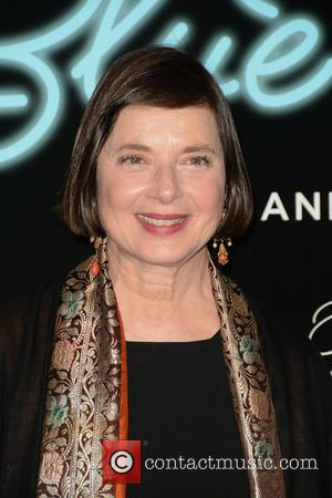 Isabella Rossellini seen alone and with co-star Kyle MacLachlan and her son Roberto Rossellini Jr. at a private screening of...