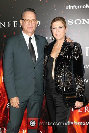 Tom Hanks with Rita Wilson at a Directors Guild of America special screening of Tom's new movie 'Inferno'. Los Angeles,...