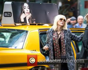 Cate Blanchett and Helena Bonham Carter seen filming scenes for Gary Ross' 'Ocean's Eight' in Midtown. The movie, which also...