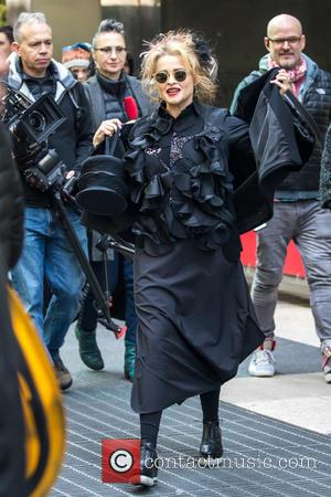 Helena Bonham Carter and Sandra Bullock seen filming scenes for Gary Ross' 'Ocean's Eight' in Midtown. The movie, which also...