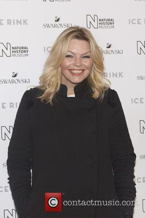 Kate Thornton at the Natural History Museum Ice Rink launch event where she was hosting the light switch on ceremony...