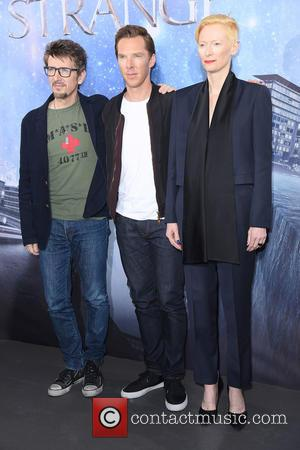 Scott Derrickson, Tilda Swinton and Benedict Cumberbatch