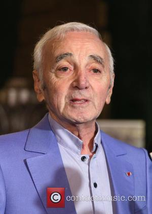 Charles Aznavour receives an honorary Hollywood Star plaque at Pantages Theatre - Hollywood, California, United States - Thursday 27th October...