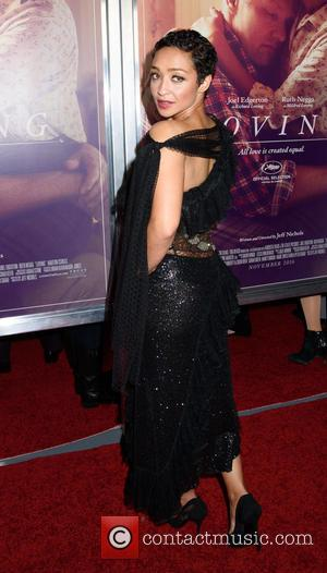 Ruth Negga who plays Mildred Jeter Loving in Jeff Nichols' new movie 'Loving', seen here at the New York premiere...