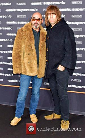 Bonehead (Paul Arthurs) and Liam Gallagher at the German premiere of 'Oasis Supersonic' held at Kino International, Berlin, Germany -...