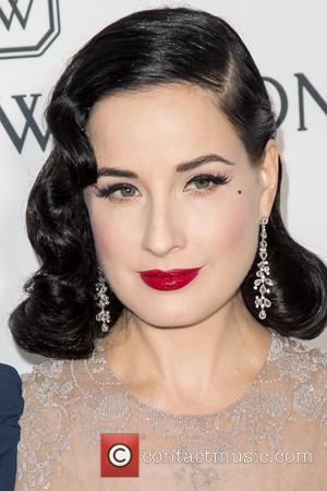 Dita Von Teese at the amfAR's Inspiration Gala Los Angeles held at Milk Studios, Los Angeles, California, United States -...