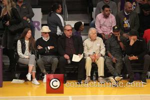Various celebrities including Jack Nicholson seen at the Lakers home opener. The Los Angeles Lakers defeated the Houston Rockets by...