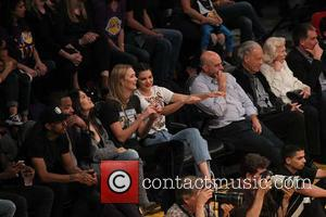 Various celebrities including Kendall Jenner and Karlie Kloss seen at the Lakers home opener. The Los Angeles Lakers defeated the...