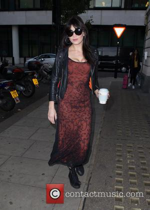 Daisy Lowe pictured arriving at the Radio 2 studio at BBC Portland Place, London, United Kingdom - Friday 28th October...