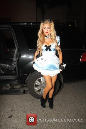 Paris Hilton arrives for the Halloween Hollywood Magazine party in Los Angeles, California, United States - Sunday 30th October 2016