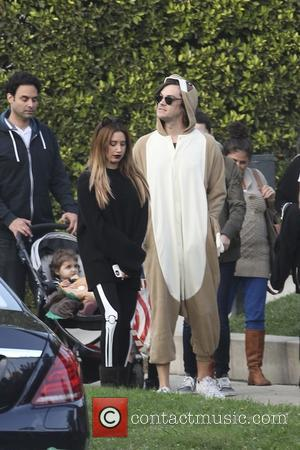 Ashley Tisdale and her husband Christopher French go Trick or Treating for Halloween in Toluca Lake, Los Angeles, California, United...