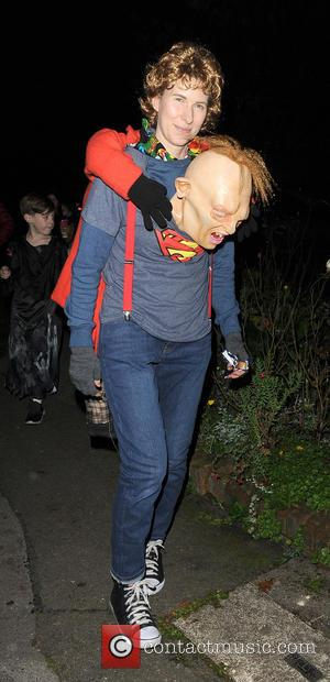 Karoline Copping and various other celebrities attend Jonathan Ross' annual Halloween party held at his home - London, United Kingdom...