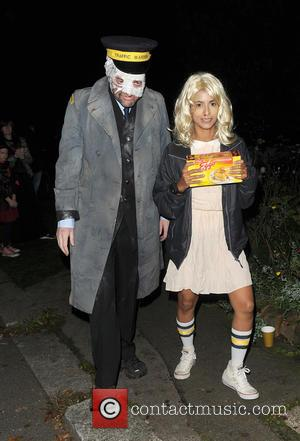 Charlie Brooker and Konnie Huq attends Jonathan Ross' annual Halloween party held at his home - London, United Kingdom -...