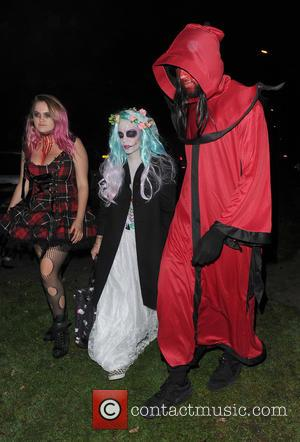 Lily Allen attends Jonathan Ross' annual Halloween party held at his home - London, United Kingdom - Monday 31st October...