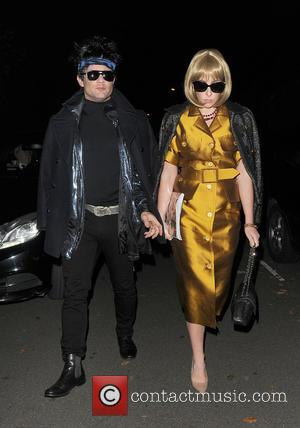 Dermot O' Leary and Dee Kopang attend Jonathan Ross' annual Halloween party held at his home - London, United Kingdom...