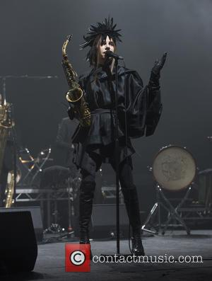 PJ Harvey (aka Polly Jean Harvey) performing songs from her new album 'The Hope Six Demolition Project' live at the...