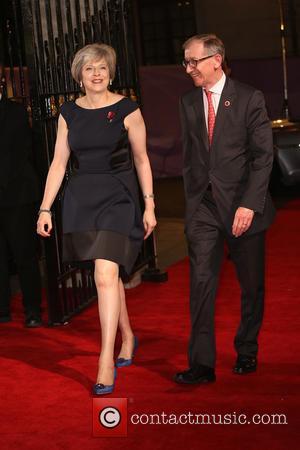 Theresa May with Philip John May at the 2016 The Pride of Britain Awards held at The Grosvenor Hotel, London,...