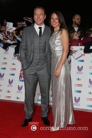 Chris Hoy and Sarra Kemp at the 2016 The Pride of Britain Awards held at the Grosvenor Hotel, London, United...