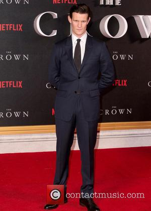 Matt Smith posing alone and with Claire Foy at The World Premiere of 'The Crown' held at the Odeon Leicester...