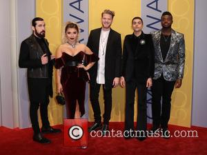 Pentatonix seen arriving at the 50th annual CMA (Country Music Association) Awards held at Music City Center in Nashville, Tennessee,...