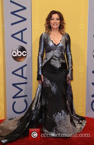 Martina McBride seen arriving at the 50th annual CMA (Country Music Association) Awards held at Music City Center in Nashville,...