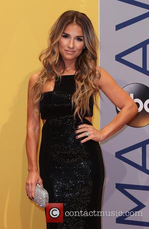 Jessie James Decker seen arriving at the 50th annual CMA (Country Music Association) Awards held at Music City Center in...