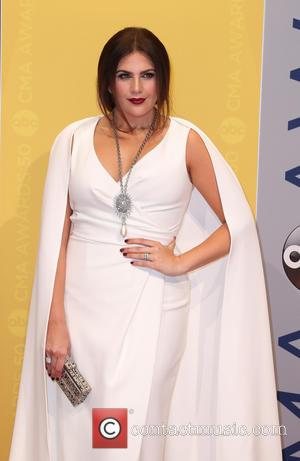 Hillary Scott seen arriving at the 50th annual CMA (Country Music Association) Awards held at Music City Center in Nashville,...