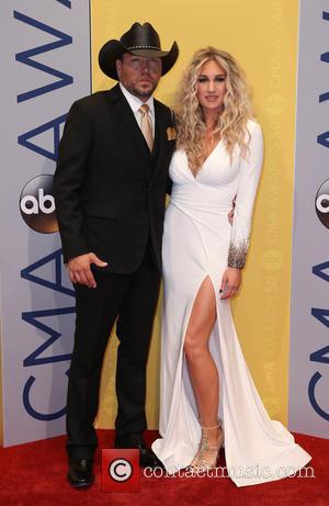 Jason Aldean and Brittany Kerr seen arriving at the 50th annual CMA (Country Music Association) Awards held at Music City...