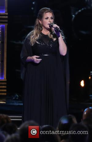 Trisha Yearwood on stage at the 50th annual CMA (Country Music Association) Awards held at Music City Center in Nashville,...
