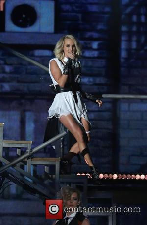 Carrie Underwood on stage at the 50th annual CMA (Country Music Association) Awards held at Music City Center in Nashville,...