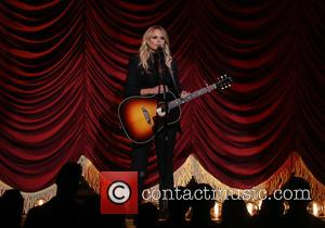 Miranda Lambert on stage at the 50th annual CMA (Country Music Association) Awards held at Music City Center in Nashville,...