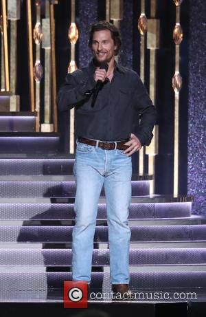 Matthew McConaughey on stage at the 50th annual CMA (Country Music Association) Awards held at Music City Center in Nashville,...