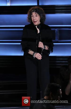 Lily Tomlin on stage at the 50th annual CMA (Country Music Association) Awards held at Music City Center in Nashville,...