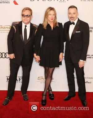 Sir Elton John, ­­­­­­­­­­­­­diana Krall and David Furnish