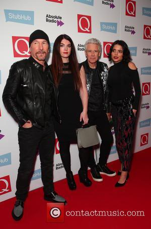 The Edge and Adam Clayton of U2 seen arriving at the 2016 StubHub Q Awards, London, United Kingdom - Wednesday...