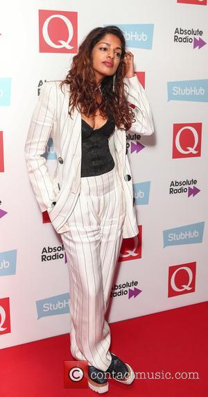 M.I.A seen arriving at the 2016 StubHub Q Awards, London, United Kingdom - Wednesday 2nd November 2016